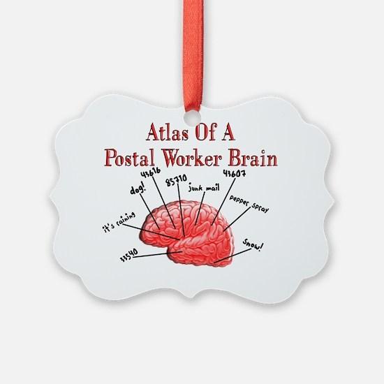 Atlas of a Postal Worker Brain Ornament