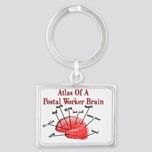 Atlas of a Postal Worker Brain Landscape Keychain