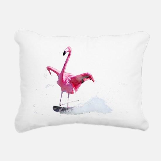 flamigoski Rectangular Canvas Pillow