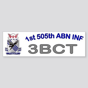 1st Bn 505th ABN Cap2 Sticker (Bumper)