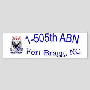 1st Bn 505th ABN Cap Sticker (Bumper)