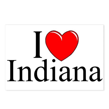"""""""I Love Indiana"""" Postcards (Package of 8)"""