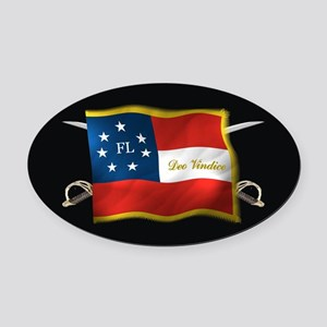 FL first national (Oval)blk Oval Car Magnet