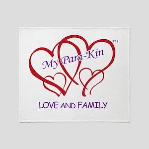 4hearts-pkin-luvfamily Throw Blanket