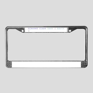 ClassGeek Transparent baggrund License Plate Frame