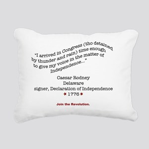 RodneyShirtBack Rectangular Canvas Pillow