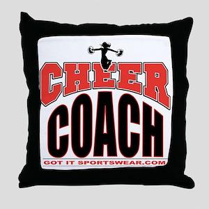 CHEER-COACH Throw Pillow