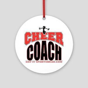 CHEER-COACH Round Ornament