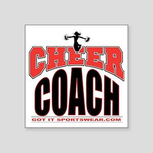 """CHEER-COACH Square Sticker 3"""" x 3"""""""