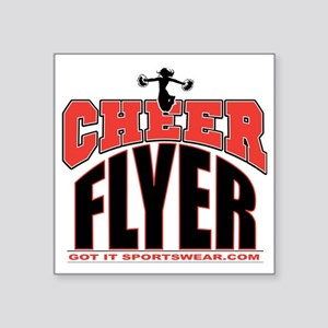 "CHEER-FLYER Square Sticker 3"" x 3"""
