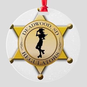 Reg Large Badge Round Ornament