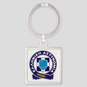 GreekPolice Square Keychain