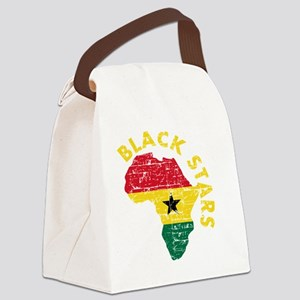 Blackstars African map Canvas Lunch Bag
