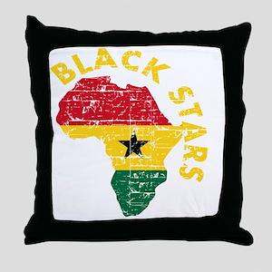 Blackstars African map Throw Pillow