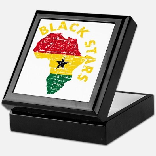 Blackstars African map Keepsake Box