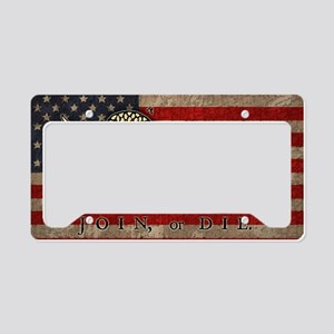 flag1-join-die-T License Plate Holder