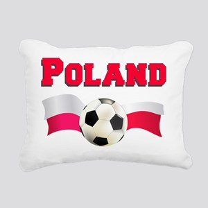 Poland Soccer Baby Rectangular Canvas Pillow