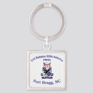 2nd Bn 505th ABN Square Keychain