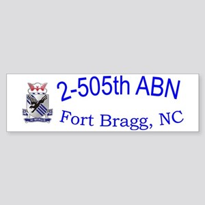 2nd Bn 505th ABN Cap Sticker (Bumper)