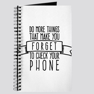Forget to check your phone Journal