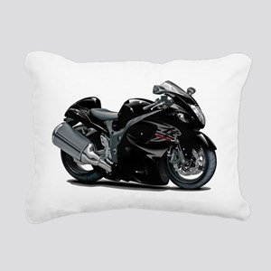 2-Hayabusa Black Bike Rectangular Canvas Pillow