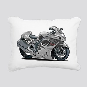 2-Hayabusa Grey Bike Rectangular Canvas Pillow