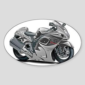 2-Hayabusa Grey Bike Sticker (Oval)