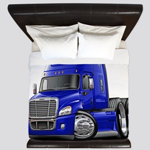 Freightliner Cascadia Blue Truck King Duvet