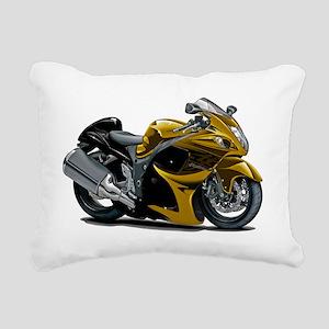 2-Hayabusa Gold Bike Rectangular Canvas Pillow