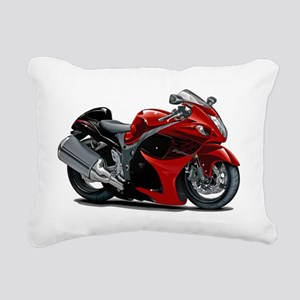 2-Hayabusa Red-Black Bik Rectangular Canvas Pillow