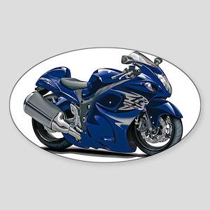 2-Hayabusa Dark Blue Bike Sticker (Oval)