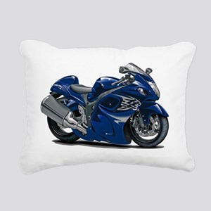 2-Hayabusa Dark Blue Bik Rectangular Canvas Pillow