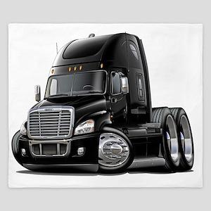 Freightliner Cascadia Black Truck King Duvet