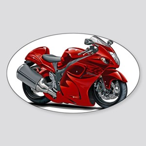 2-Hayabusa Red Bike Sticker (Oval)