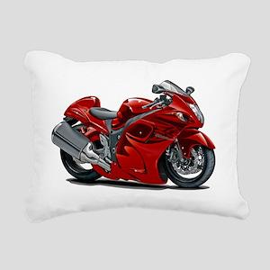 2-Hayabusa Red Bike Rectangular Canvas Pillow
