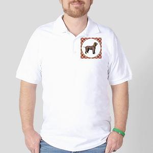 RDORN-irish-water-spaniel-christmas Golf Shirt