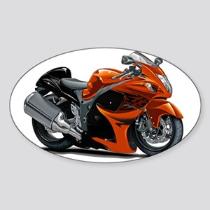 2-Hayabusa Orange Bike Sticker (Oval)