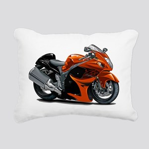 2-Hayabusa Orange Bike Rectangular Canvas Pillow