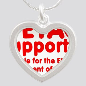 PetacSupporterOval Silver Heart Necklace