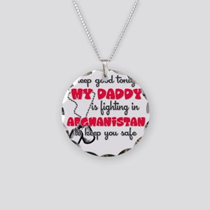 My Daddy Afghanistan pink Necklace Circle Charm