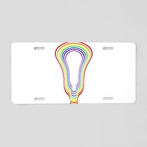 Lacrosse Hypnotize Rainbow Aluminum License Plate