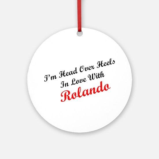 In Love with Rolando Ornament (Round)