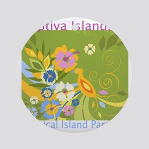 Captiva-Island-Tropical-Paradise Round Ornament