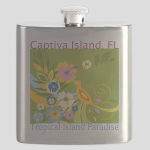 Captiva-Island-Tropical-Paradise Flask