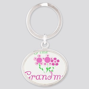 2firststimegrandma Oval Keychain
