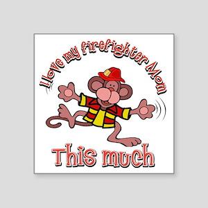 "firefighter_mom Square Sticker 3"" x 3"""