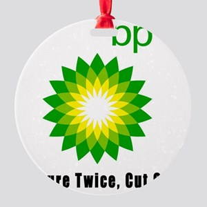 bp measure twice 01 Round Ornament
