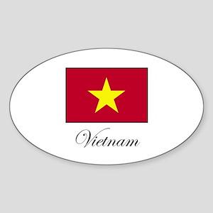 Vietnam Oval Sticker