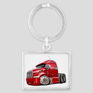 Peterbilt 587 Red Truck Landscape Keychain