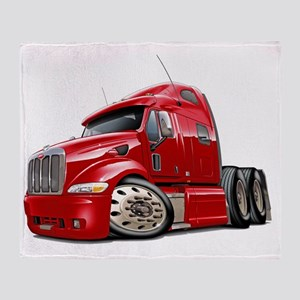 Peterbilt 587 Red Truck Throw Blanket